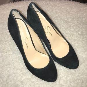 4/$25 Jessica Simpson | suede black pumps / heels